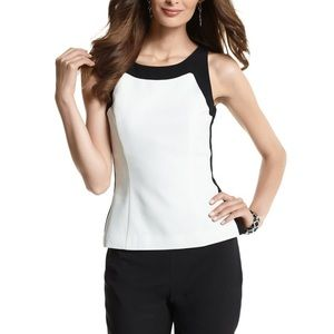NWT! WHBM Hi-Contrast Fitted Shell